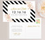 Floral Stripes Save the Date