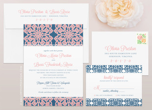 Scrollwork Wedding Invitation