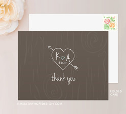 Tree Carving Thank You Card (folded)