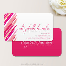 Lipstick Makeup Artist or Cosmetologist Business Card
