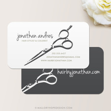 Hair Stylist Shears Business Card