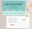 Fence Moving Announcement Postcard or Moving Announcement Magnet in Tiffany Blue