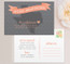 State (Texas) Moving Announcement Postcard / Magnet / Flat Card with envelope