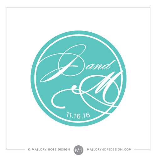 Elegant Emblem PreMade Wedding Logo Design