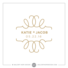 Scrollwork PreMade Wedding Logo Design