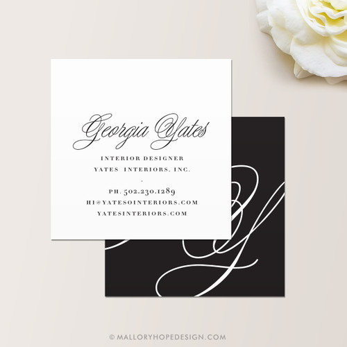 Lavish Square Business Card