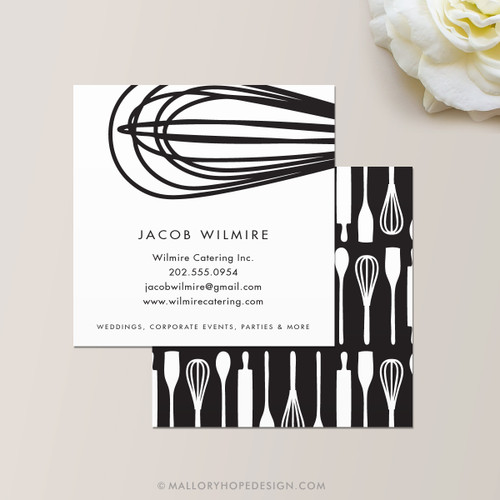 Square Business Cards Mallory Hope Design
