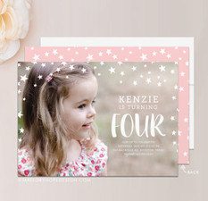 Stars Photo Birthday Invitation