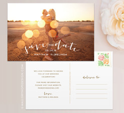 Sunset Photo Save the Date