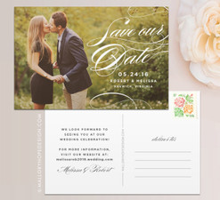 Sophisticated Script Photo Save the Date