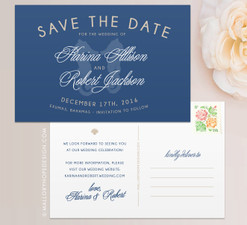 Seahorse Tropical Save the Date