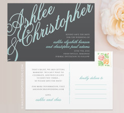 Elegant Names Save the Date