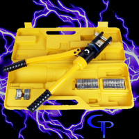 16 Ton Hydraulic Wire Crimper 11 Dies 6AWG to 600MCM (any size for overkill audio)