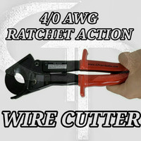 RATCHET STYLE WIRE CUTTER (UP TO 4/0 AWG)