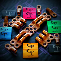 GP AUDIO 'Merica TRUE 2/0 AWG UL LISTED PURE COPPER LUGS & HEAT SHRINKS