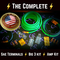 **The Complete: 1/0 AWG Stage 1 Wiring Kit