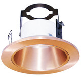 "4"" Line Voltage Open Reflector With Bracket Copper"
