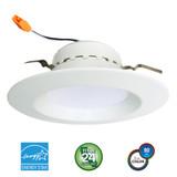 """Euri Lighting  DLC4-1000e LED 4"""" Downlight Combo Retrofit Kit 13W 120V 3000K"""