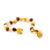 Polished multicolor LUX baroque amber teething anklet / bracelet