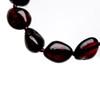 Polished dark cherry bean beads amber teething anklet / bracelet