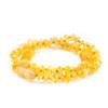 Unpolished honey chips amber teething & colic necklace