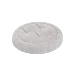Round Suede Tray for 3 Ring