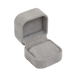 Round Corner Suede Earring Box For Studs