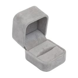 Round Corner Suede Ring Box