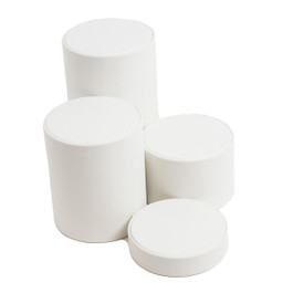 Leatherette Cylinder Riser Set - 4 Piece