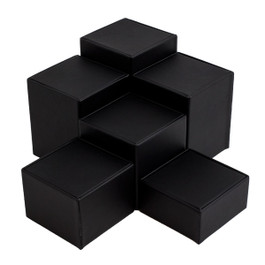 Leatherette Square Riser Set - 6 Piece