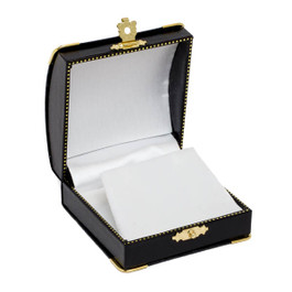 Earring or Pendant Box with Gilt Trim