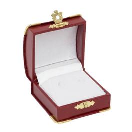 Stud Earring Box with Gilt Trim