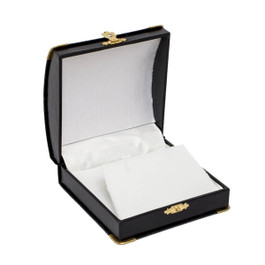 Pendant or Earring Box with Gilt Trim