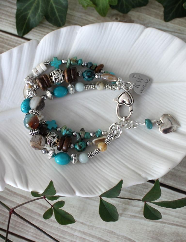 Blue Hearts Bracelet