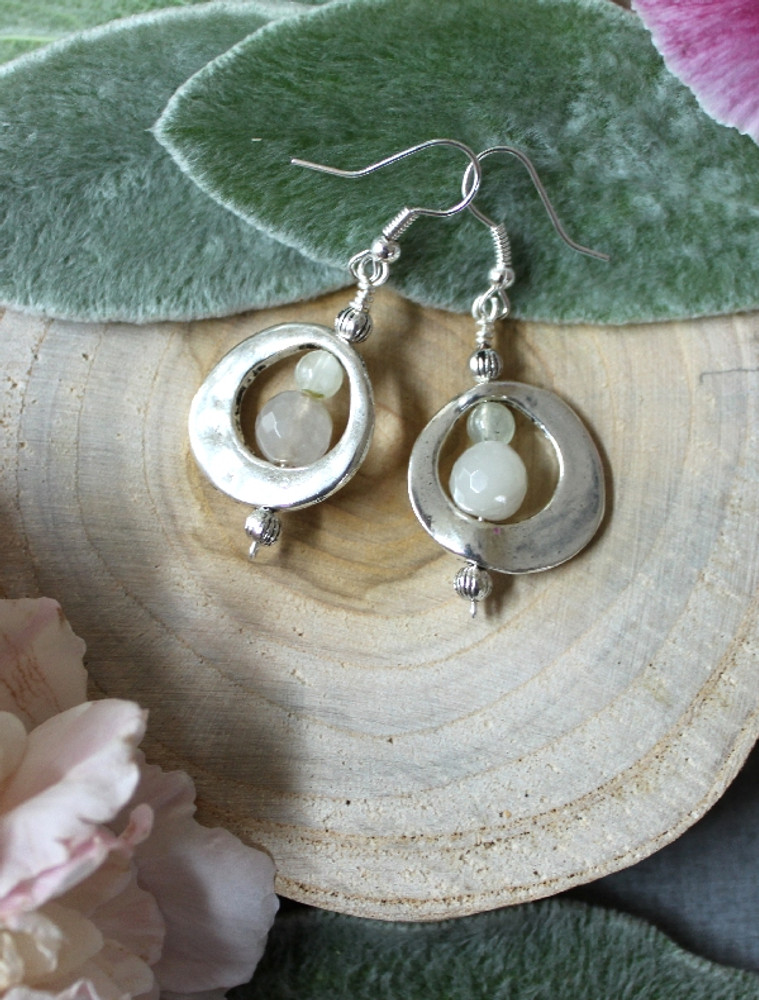 Abstract Circle Earrings