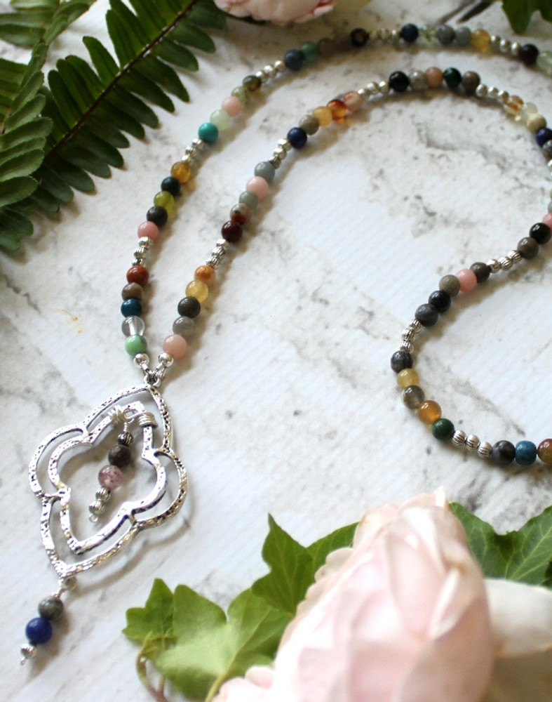 Medallion Beaded Necklace