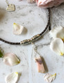 Bolo Leather & Stone Necklace