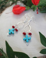 Turquoise Cross Dangle Earrings