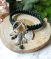 Macrame Leather & Charm Bracelet