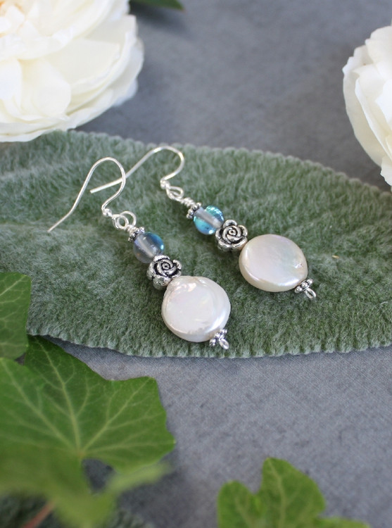 Frost Freshwater Pearl Earrings