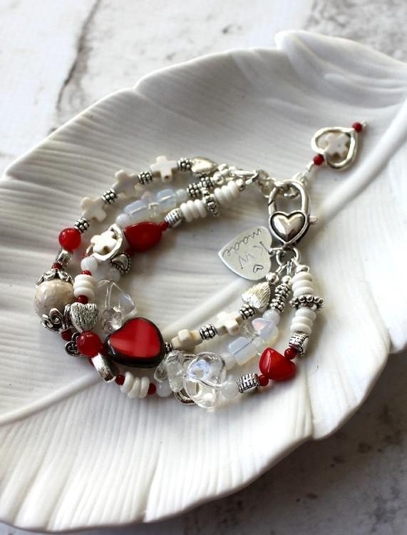 Red Hearts Bracelet