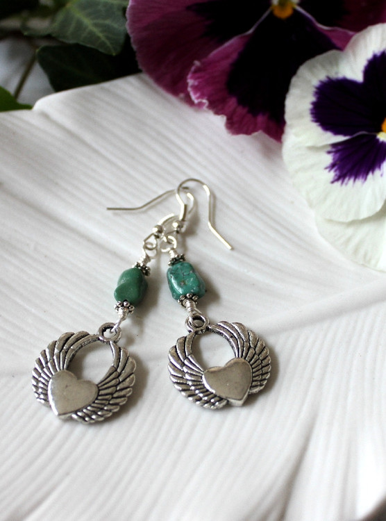 Heart & Wing  Earrings