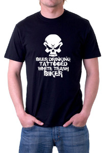 Beer drinking biker T-Shirt