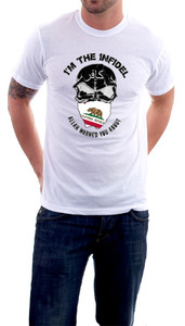 Im the Infidel Allah Warned You About California T-Shirt