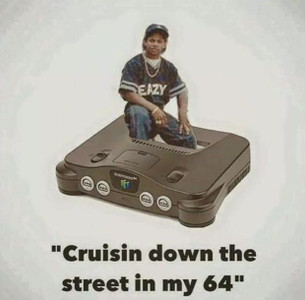 Cruisin Down the Street in my 64 T-Shirt