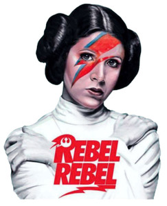 Princess Leia David Bowie T-Shirt