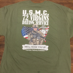U.S.M.C. 72 Virgins dating service T-Shirt