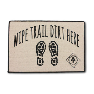 Wipe Trail Dirt Here Door Mat