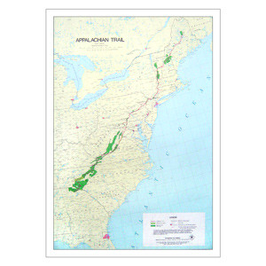 Exploring Maps Posters Postcards Appalachian Trail Conservancy - Appalachian trail new hampshire map