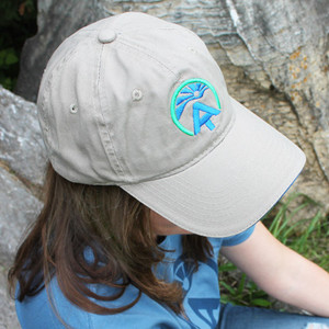 This attractive khaki cap comes with the ATC sunrise logo embroidered in blue and green.